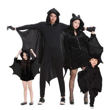 Halloween Cosplay palo ropa madre e hija Padre hijo trajes Ropa a juego para familias niños mono ropa de la etapa