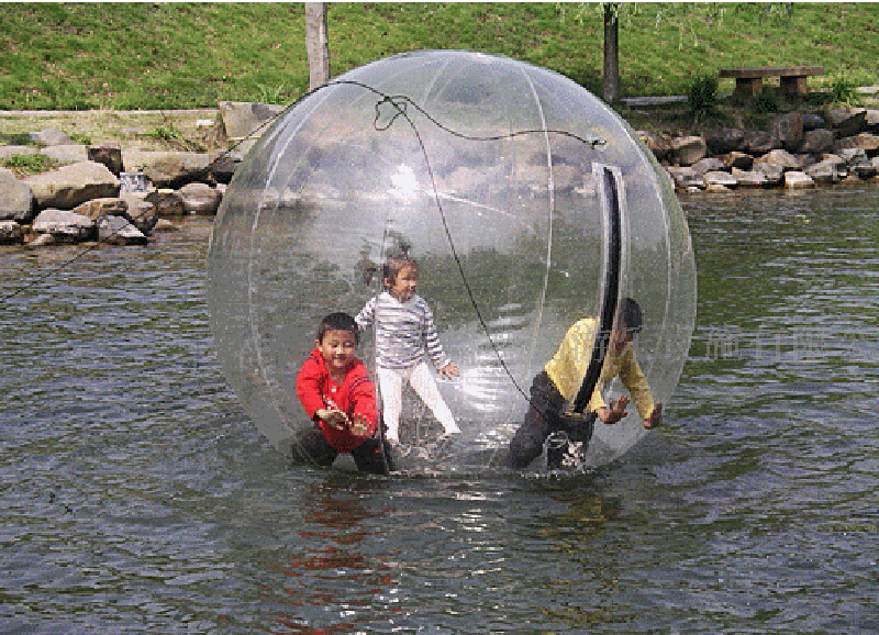 1.8M  PVC Inflatable Water Walking Ball Transparent Dance Water Ball inflatable water spoon outdoor game water ball summer water spray beach ball lawn playing ball children s toy ball