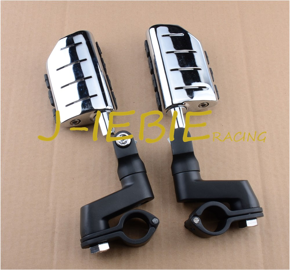 Black Foot Rest Foot Pegs For Suzuki BOULEVARD M90 S50 M50Z C90 M1500