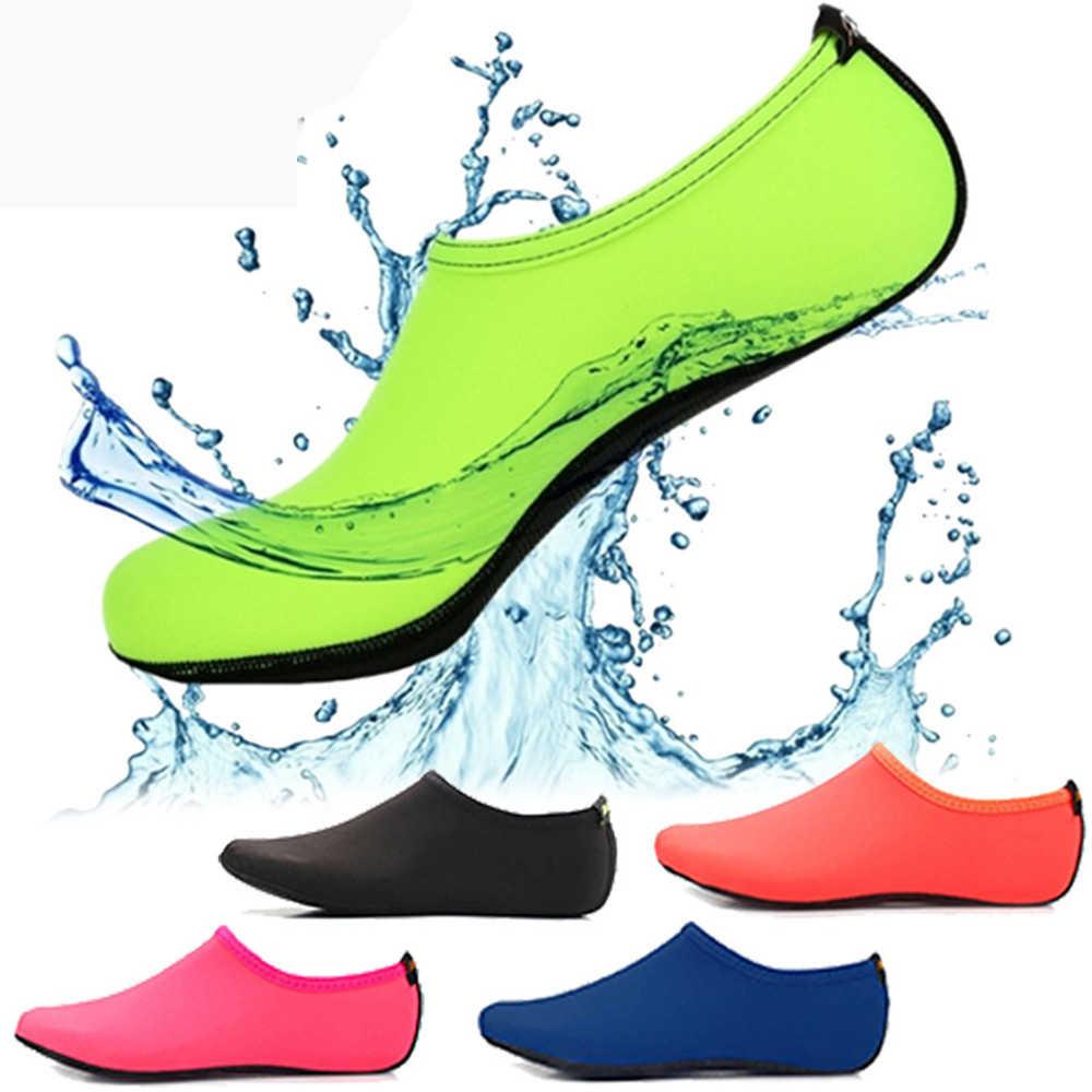 Nuevo diseño zapatos de piel descalzos Aqua corto verano agua Deporte Calcetines mujeres zapatillas Sandalias calzado ropa deportiva calcetines de Yoga