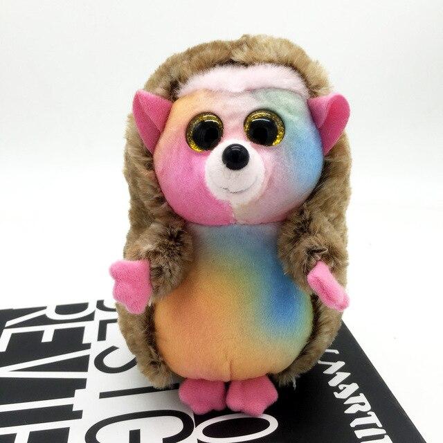 Ty Beanie Boos 6 15cm Big Eyes Multicolor Hedgehog Plush Regular