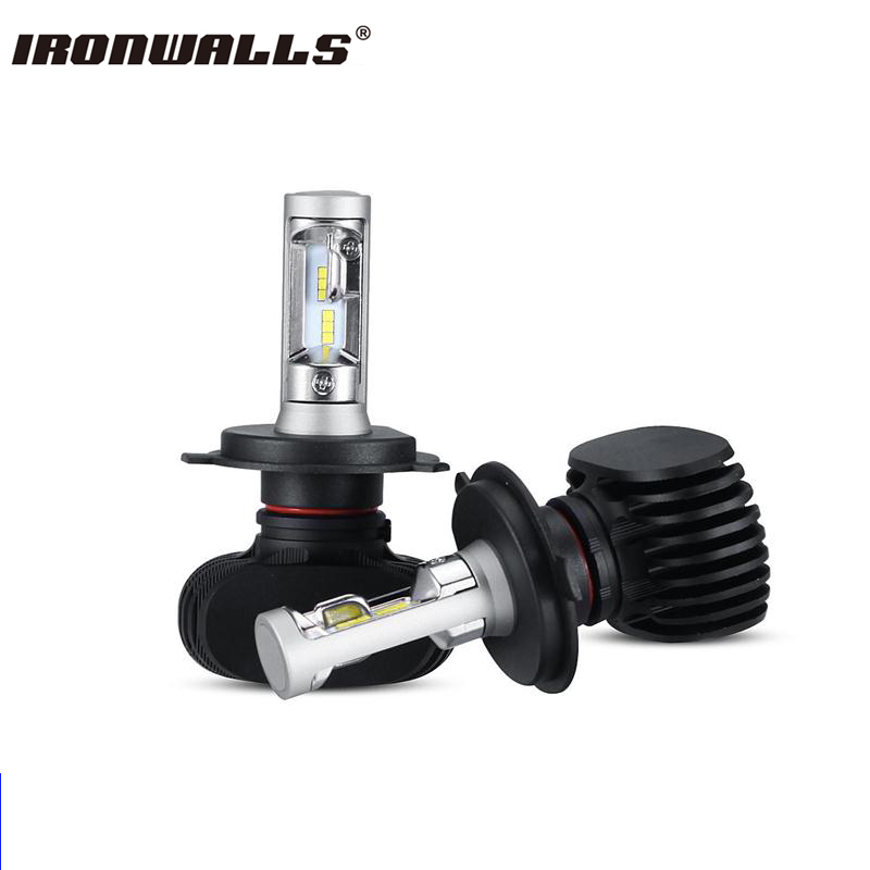 Ironwalls Led H4 Headlight Bulbs 50W Cree Csp Chips 8000Lm Hi-Lo Beam Auto Front Fog Light Headlamp Kit DC 12 24V For Jeep Ford ironwalls h11 led car headlight bulbs cree csp chips 72w 8000lm 6500k auto front fog light headlamp 12v 24v for ford toyota