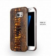Новое Прибытие Специальные Ноги Страуса Текстуры Case для Samsung Galaxy S7 G930 Верхний Слой кожи Case для Samsung S7 Egde g9350 крышка