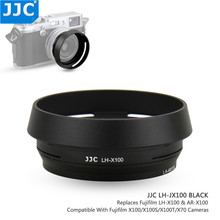 JJC 49mm Metal Lens Hood for Fuji Fujifilm X100V X100F X100T X100S X100 X70 replaces Fujifilm LH X100 AR X100 Adapter Ring