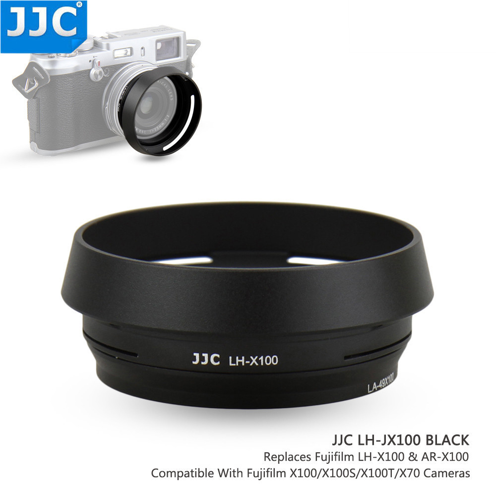 JJC Camera Metal Lens Hood 49mm for FUJIFILM X7/X100/ X100S/X100T/X100F replaces LH-X100 Screw Adapter Ring