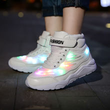 Uncle Jerry Led Shoes for Child USB chargering Light Up Sneakers for boys girls Glowing Fashion Shoes School Comfortable Casual