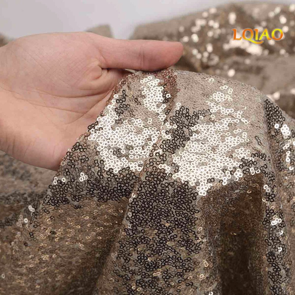 Light Gold Sequin Curtain Backdrop-007