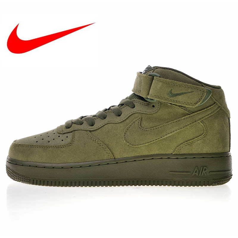 fceae2954ba3d High Quality Nike Air Force 1 Mid 07 Suede Men Skateboarding Shoes Outdoor  Sneakers Lightweight 315123 302 315123 609-in Skateboarding from Sports ...