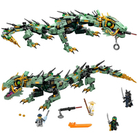 592pcs Movie Series Flying Mecha Dragon Building Blocks Bricks Toys Children Model Gifts Compatible With Leping