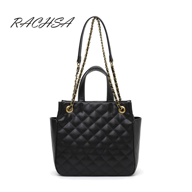 045b7cd06017 Classic Crossbody Shoulder Bag for Women Quilted Purse Chain Strap PU  Leather Hobo Handbags Top-Handle Bucket Bag 2019 New