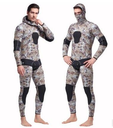 Mannen Hooded Neopreen 5 MM Scuba Nat Duikuitrusting Snorkelen - Sportkleding en accessoires - Foto 5