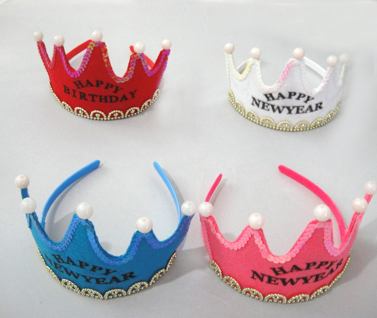 10pcs / lot 5Leds Glowing Princess Sretan Rođendan Tiara Crown - Za blagdane i zabave - Foto 2