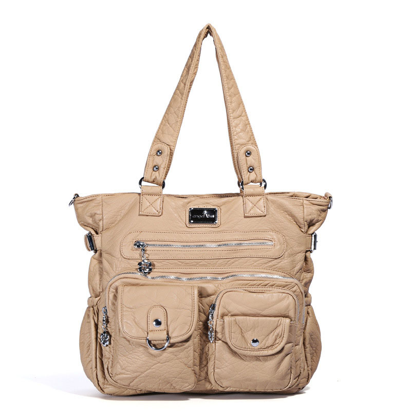 100% Wahr Europäische Und Amerikanische Mode Weiche Leder Frauen Handtaschen Reine Farbe Dame Einzelnen Schulter Straddle Tasche Zf9647