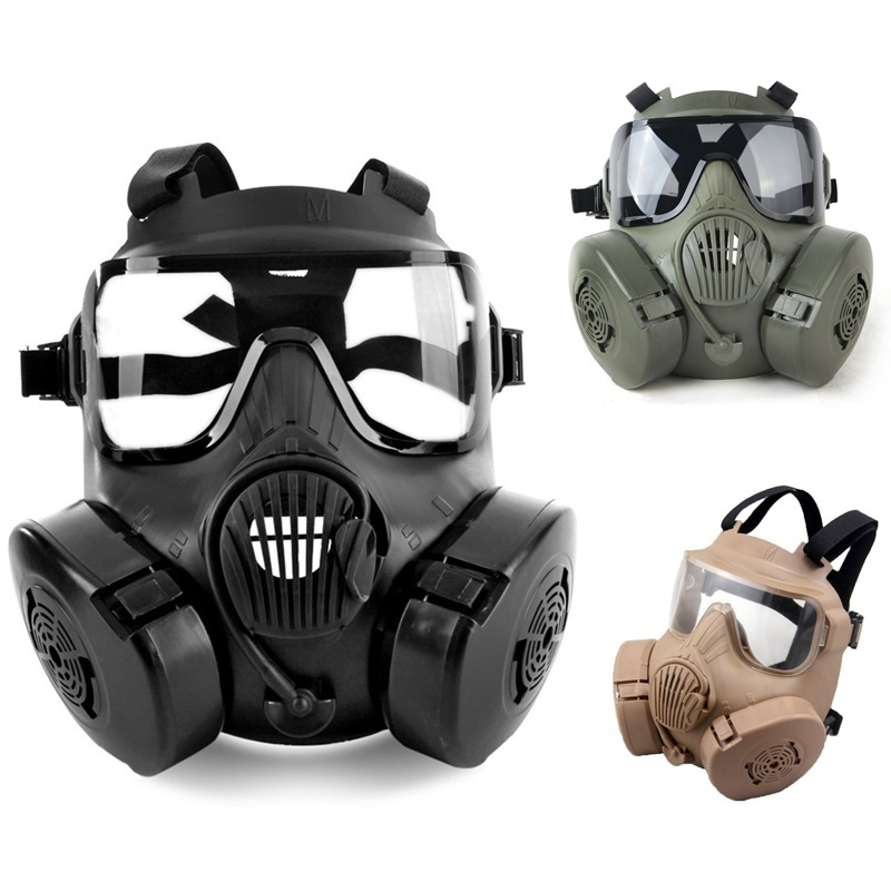 DC15 M50 Airsoft Gas Mask With Fan CS Wargame Paintball Soft Air Full Face Protective Skull
