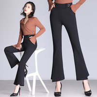 Office Lady Women's Flare Pants with Asymmetrical Bottom Elegant Woman Clothing Trousers plus size pants