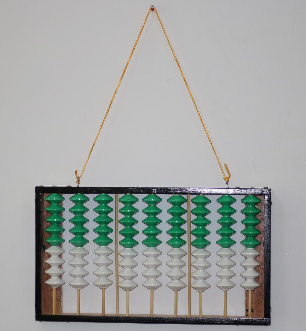 Cadre en bois à 9 colonnes pendu Abacus antidérapant outil soroban chinois en mathématiques éducation pour enseignant XMF003