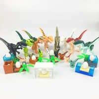 MOC Raptor Triceratops Super Tyrannosaurus rex Schwere Klaue Drachen Mini Jurassic Dinosaurier Bricks Bausteine Super Heroes spielzeug