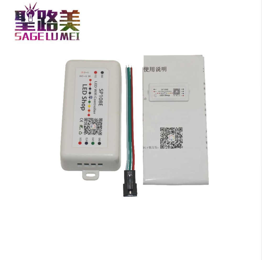 SP108E DC5V 12 V 24 V светодиодный SPI пикселей WI-FI контроллер с помощью smart phone APP для WS2811 WS2812B WS2813 APA102 Светодиодные ленты светодиодные ленты