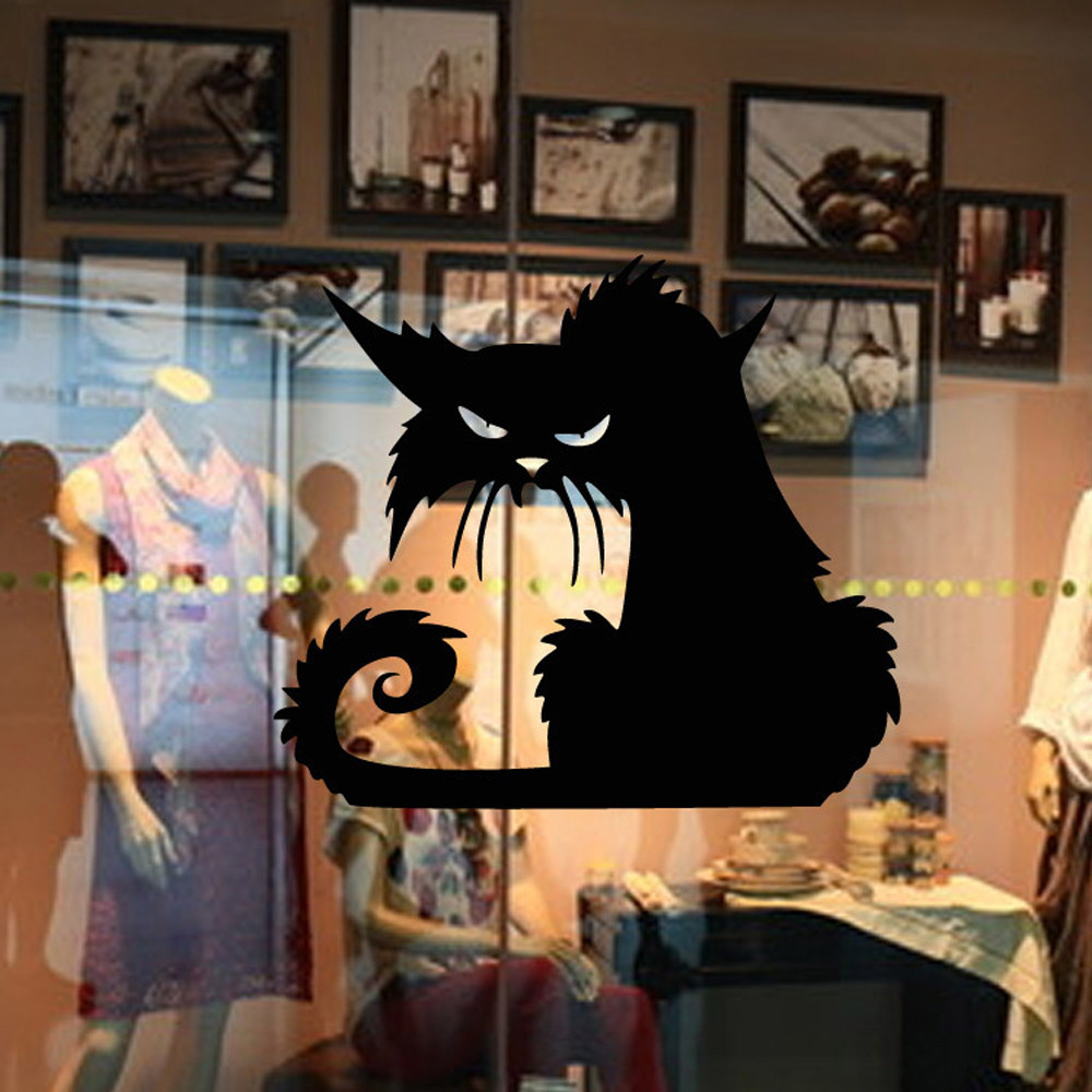 Farfalle Decorative Fai Da Te us $0.49 8% off|vinyl removable 3d black cat wall stickers home decor for  party kids room living room wall decals wallpaper halloween decoration|wall