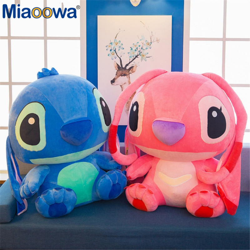 1pc 80cm Super Giant Cute Anime Lilo And Stitch Plush Toy Baby Soft Pillow Kids Stuffed Doll Baby Toy For Children Gift - 6