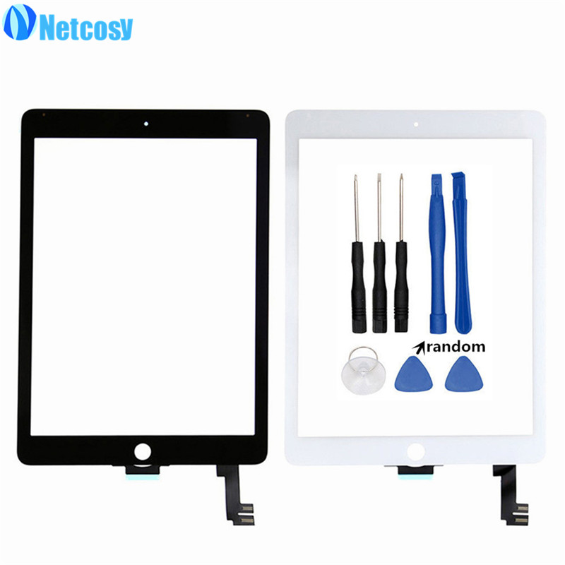 Netcosy For ipad Air 2 A1567 A1566 Touchscreen touch screen glass digitizer replacement for ipad 6 Tablet touch panel & Tools