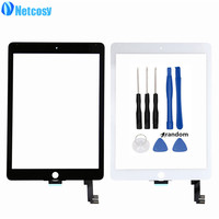 For Ipad Air 2 Touchscreen Black White Touch Screen Glass Digitizer Lens Replacement Parts For Ipad