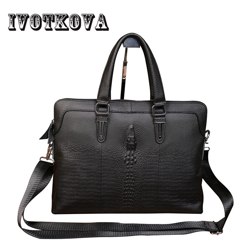 IVOTKOVA 2018 New Fashion Genuine Leather Men Bag Famous Brand Shoulder Bag Messenger Bags Causal Handbag Laptop Briefcase Male feger 2018 new fashion genuine leather men bag famous brand shoulder bag messenger bags causal handbag laptop briefcase male