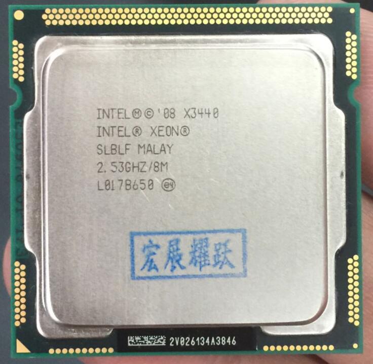 Processore Intel Xeon X3440 Quad-Core (8 m Cache, 2.53 ghz)) LGA1156 Desktop CPU 100% di lavoro correttamente Desktop Processore
