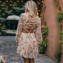 فستان شيفون أنيق فلوري موسم الصيف