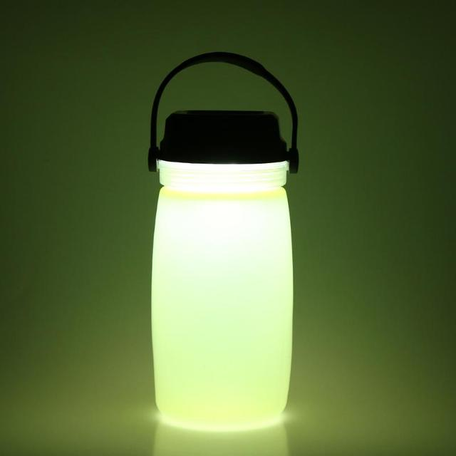 Portable Outdoor Led Water Drinking Bottle Solar Charge Camping Light Luminous Sports Charging Interface Drink Kettle