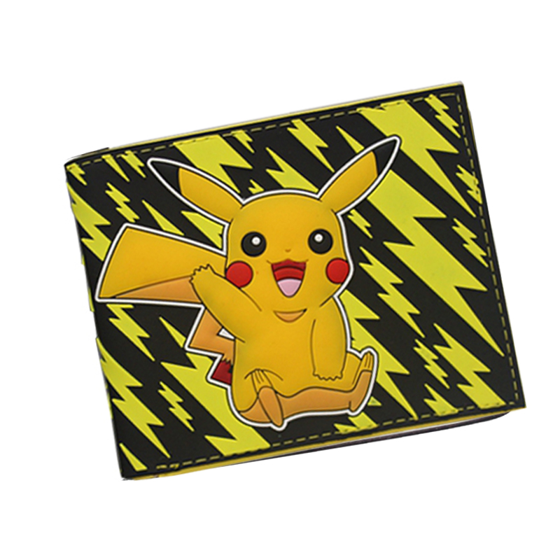 Anime Cartoon Wallets Bifold Game Pokemon Go Wallet For Teenager Women Men Pocket Monster Purse Cute Pocketbook Christmas Gift anime cartoon pocket monster pokemon wallet pikachu wallet leather student money bag card holder purse