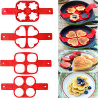Silicone Fried Egg Ring Maker Non Stick Pancake Maker Cooking Tool Cheese Egg Pan Flip Eggs Mold Kitchen Baking Accessories
