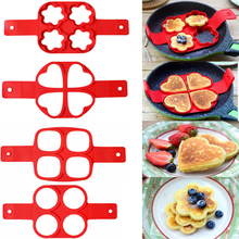 Silicone Fried Egg Ring Maker Non Stick Pancake Maker Cooking Tool Cheese Egg Pan Flip Eggs Mold Kitchen Baking Accessories silicone egg molds pancake silicone egg ring maker mold non stick pancake cooking tool kitchen baking accessories