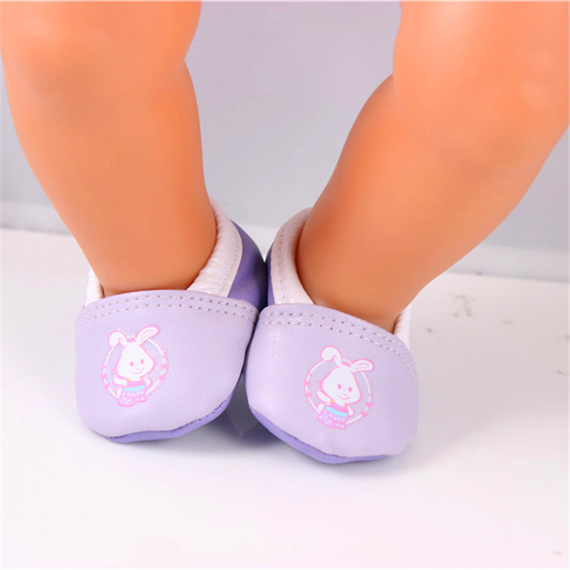 Doll Accessories,Purple Doll Shoes Wear fit 43cm Baby Born zapf, Children best Birthday Gift LH136