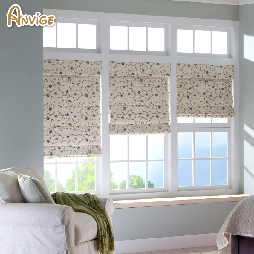 Pastoral Tree And Flower Roman Shades ,Easy Install