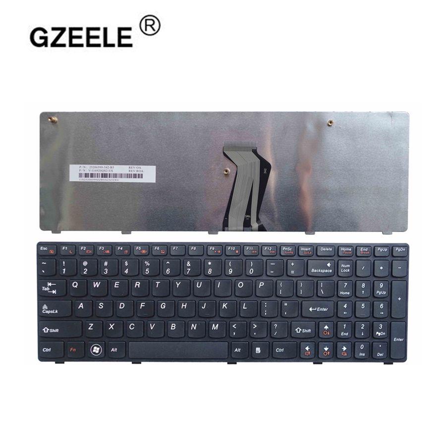 GZEELE NEW US Laptop Keyboard FOR Lenovo G570 Z560 Z560A Z560G Z565 G575 G770 G560 G560A G565 G560L US English Keyboard