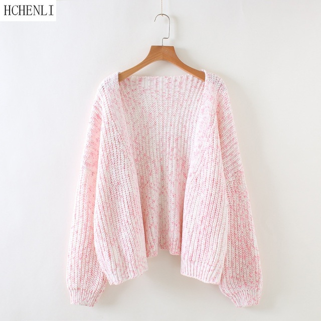 HCHENLI 2017 Autumn Ladies Pink Grey Wool Cardigan Women Knitwear ...