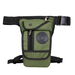 Image 3 - Mens Waterproof Nylon Drop Leg Bag Fanny Pack Waist Belt Thigh Hip Bum Military Motorcycle Riding Black Pouch Pack Packet Bag