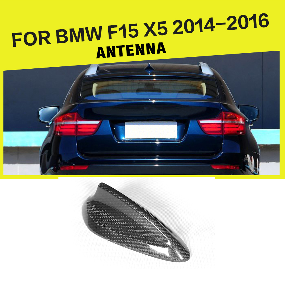 Car Styling Carbon Fiber Antenna Shark Fin Roof Aerial Antenna Trunk Trim Sticker for BMW F15 X5 2014-2016 epr car styling for mazda rx7 fc3s carbon fiber triangle glossy fibre interior side accessories racing trim