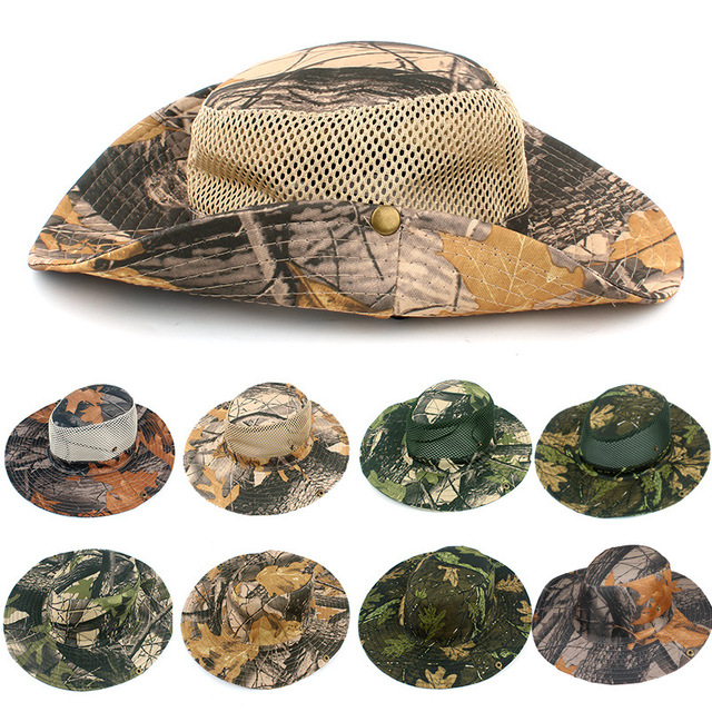 2018 Panama Bucket Flap Hat Breathable Multicam Nepalese Boonie Camouflage  Hats Outdoor Fishing Wide Brim hats Sun Hat b0bbe584191