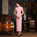 2016 Summer style lace Cheongsam Top quality silk Party Dress Evening Dress short sleeve Tang suit chi-pao vestidos Size:S-2XL