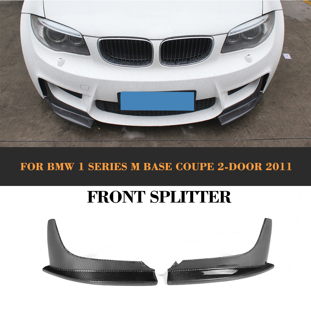 Carbon Fiber Front Splitter Auto Racing Front Bumper Diffuser Splitters Apron for BMW 1 Series E82 M 1M Coupe 2 Door 2011