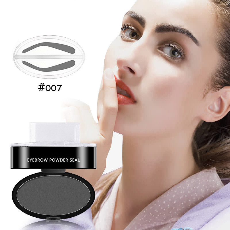 Beauty Essentials Lazy Quick Eyebrow Stamp Seal Tint Waterproof Long Lasting Eyes Brow Shadows Set Natural Shape Punch For Eyebrows Powder Palette
