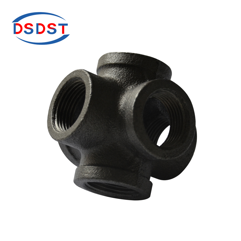 Home Improvement 1pcs/lot Malleable Iron Tee Black Color Pipe Fittings Crafts Fittings Loft Industry Style Retro Fittings Elbow Cast Iron Nipple