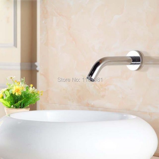 Aliexpress com : Buy New wall mount automatic sensor faucet basin tap auto  water spout smart faucet medical tap XR8856 from Reliable Basin Faucets