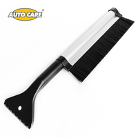 Auto Care Retractable Extendable Telescoping Snow Brush Ice Scraper For Winter Car Vehicle Windshield With Stiff