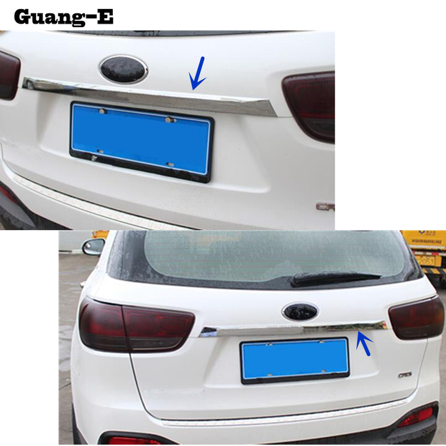 Car Body Rear Back Per Cover Stainless Steel Wrap License Trim Frame Lamp Panel 1pcs For