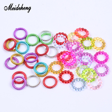 13*13/14*14mm Circle Hair Ring Slime Beads Crystal Mud Filler Accessories For Jewelry Making Handmade Hair Bracelets Ornaments meideheng acrylic circle beads transparent electroplating slime crystal mud filler ornament accessories for hair ring needlework