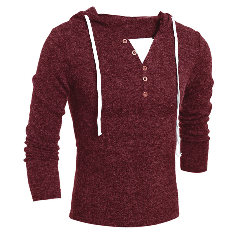 new men's hoodies cotton fashion hooded knit hoodie sweatshirt men casual