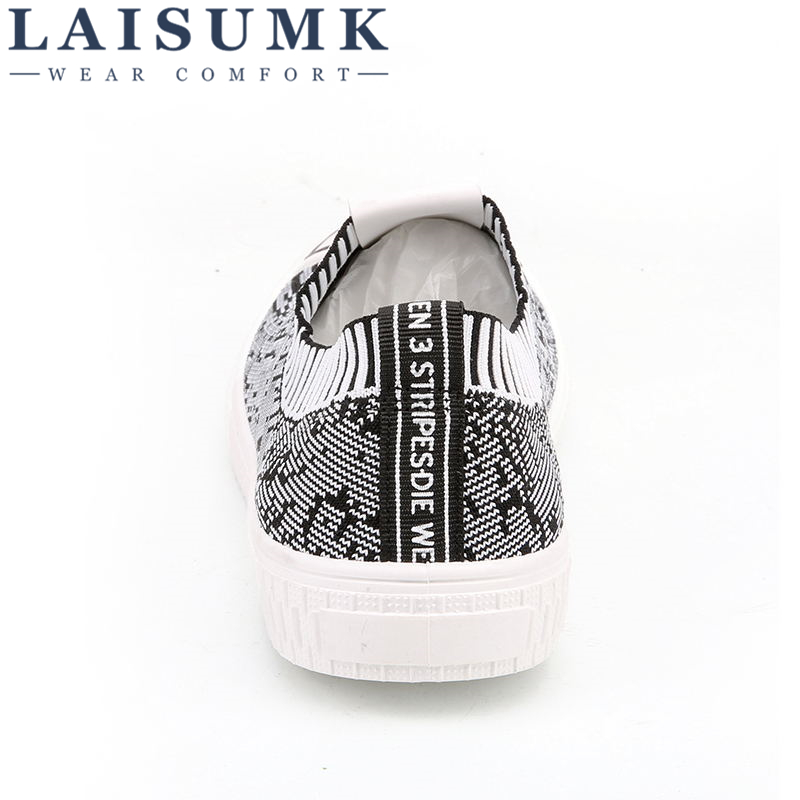 2019 LAISUMK Brand Best Sellers Spring Autumn Fashion 3D Cloth Printed Casual Shoes Big Size Breathable Flat heel Sneakers Shoes in Men 39 s Casual Shoes from Shoes